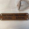 leren label happy handmade living