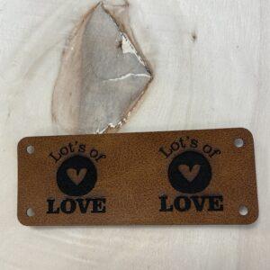leren label lot's of love